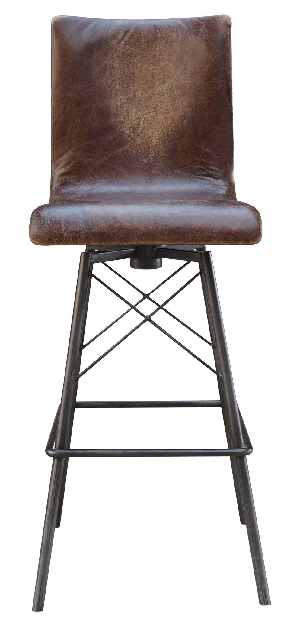 Jenna Swivel Leather Bar Stool Leather Bar Stools With Back R38