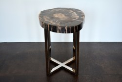 Plush Narrow Petrified Wood Side Table Mecox Gardens Wood Side Table Metal Legs Wood Side Table Amazon