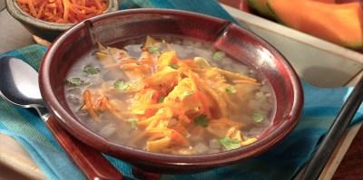Tortilla Cheesy Soup Recipe   Sargento® Shredded Nacho & Taco Cheese