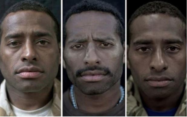 Risultati immagini per Immagini Che Fanno Riflettere: 5 Soldati Fotografati Prima, Durante E Dopo La Guerra