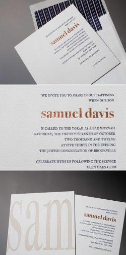 Small Of Bar Mitzvah Invitations