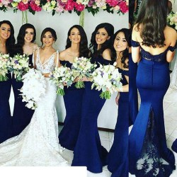 Small Of Blue Bridesmaid Dresses