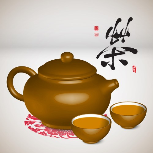 Medium Of Chinese Tea Set