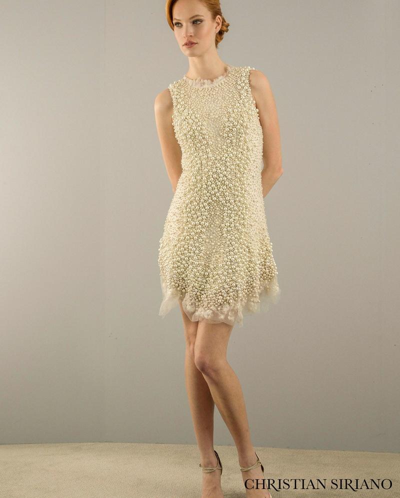 casual wedding dresses Short sheath dress by Christian Siriano