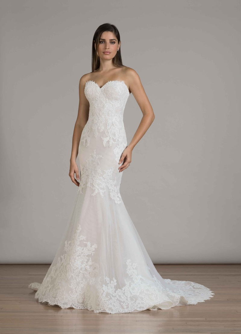 wedding dresses Liancarlo Fall strapless mermaid wedding dress