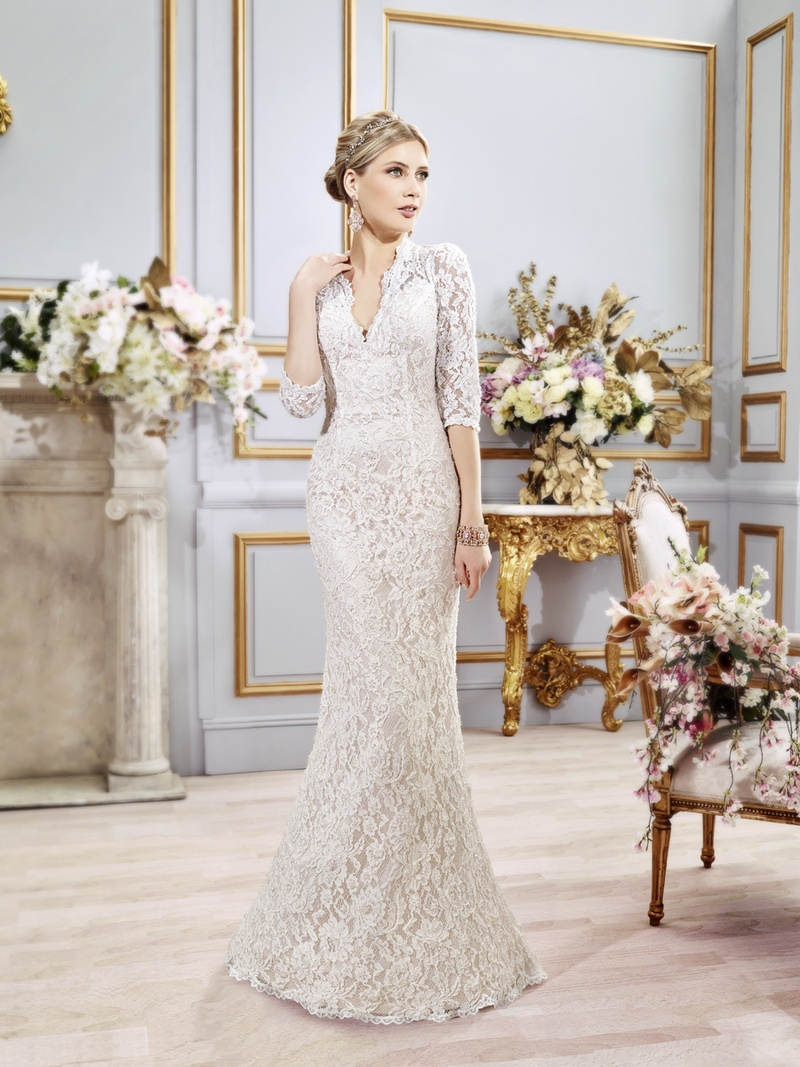 wedding dresses Three quarter sleeve Val Stefani Spring Wedding Dress