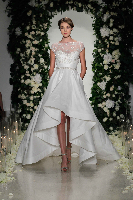 high low wedding dress anne barge high low wedding dress