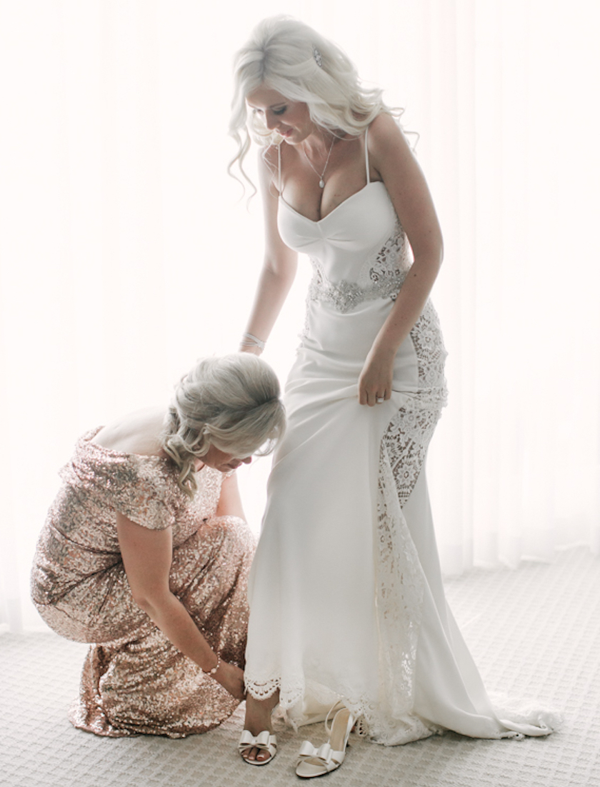 glitter wedding dress Mother of bride in sequin dress