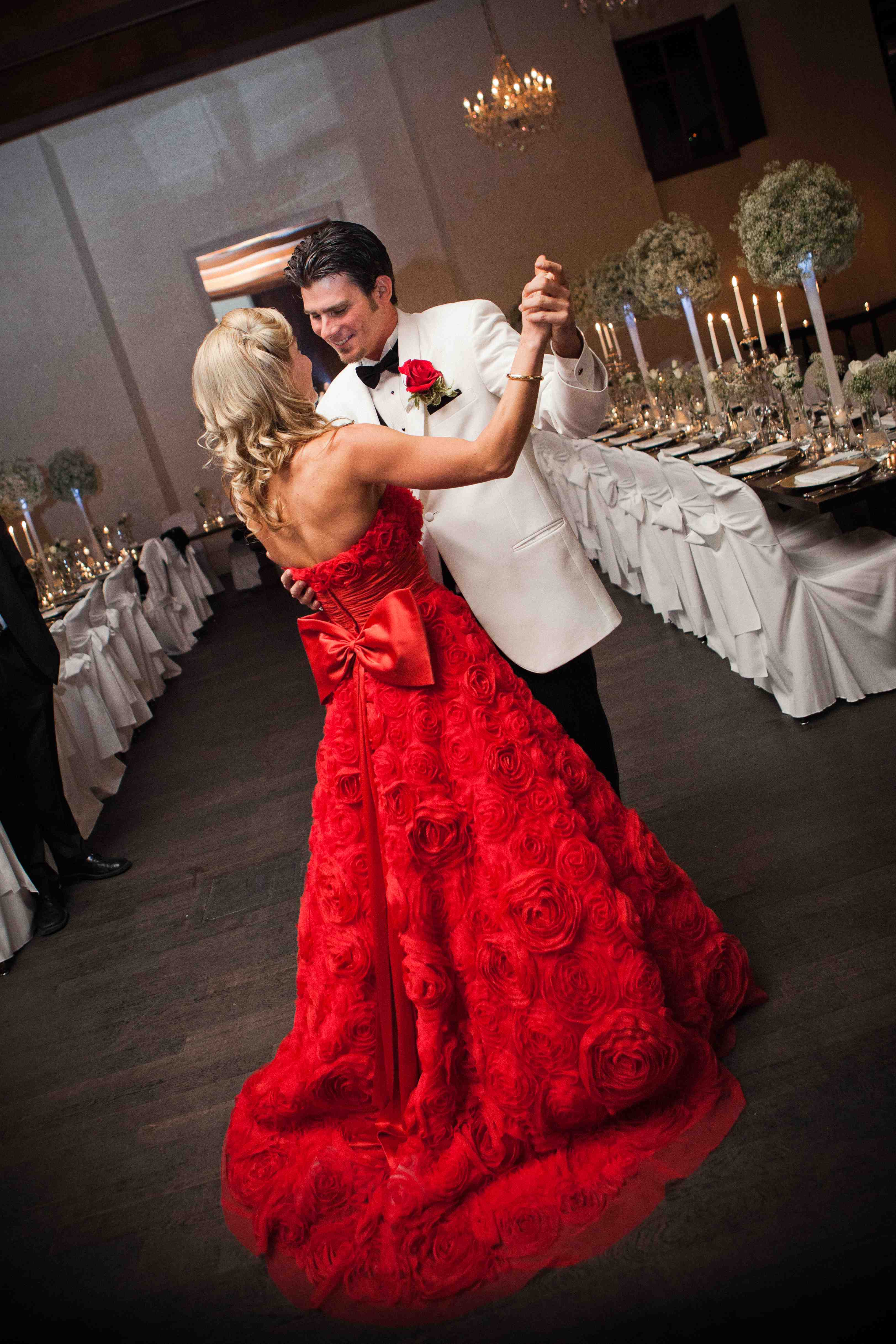 reception dresses for wedding dramatic red reception dress