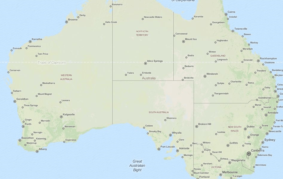 Download Australia Map Software for Your GPS Map of Australia in ExpertGPS GPS Mapping Software