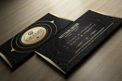 Small Of Black Business Cards