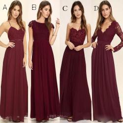 Small Crop Of Burgundy Bridesmaid Dresses