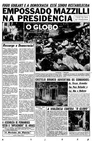 Página 1 - Edição de 02 de Abril de 1964