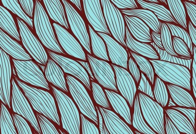 Abstract hand-drawn background, Seamless pattern with waves can be used for wallpaper, pattern ...