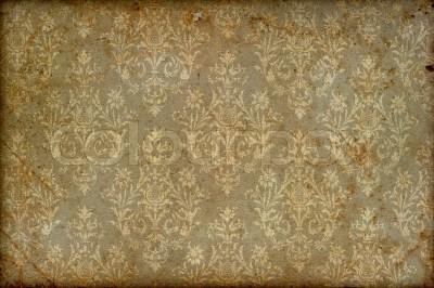 Old vintage wallpaper grunge background   Stock Photo ...
