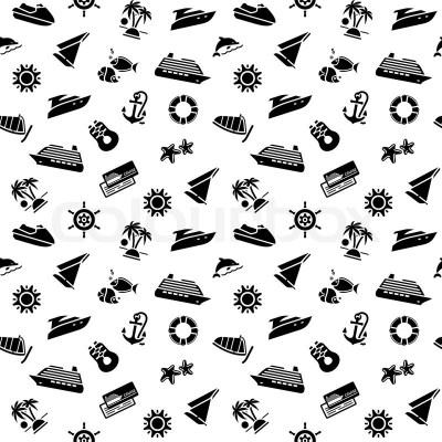 Geschenkpapier - Transport Icons, ... | Stock-Vektor | Colourbox