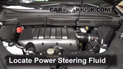 Follow These Steps to Add Power Steering Fluid to a GMC Acadia  2007     Locate the power steering fluid reservoir