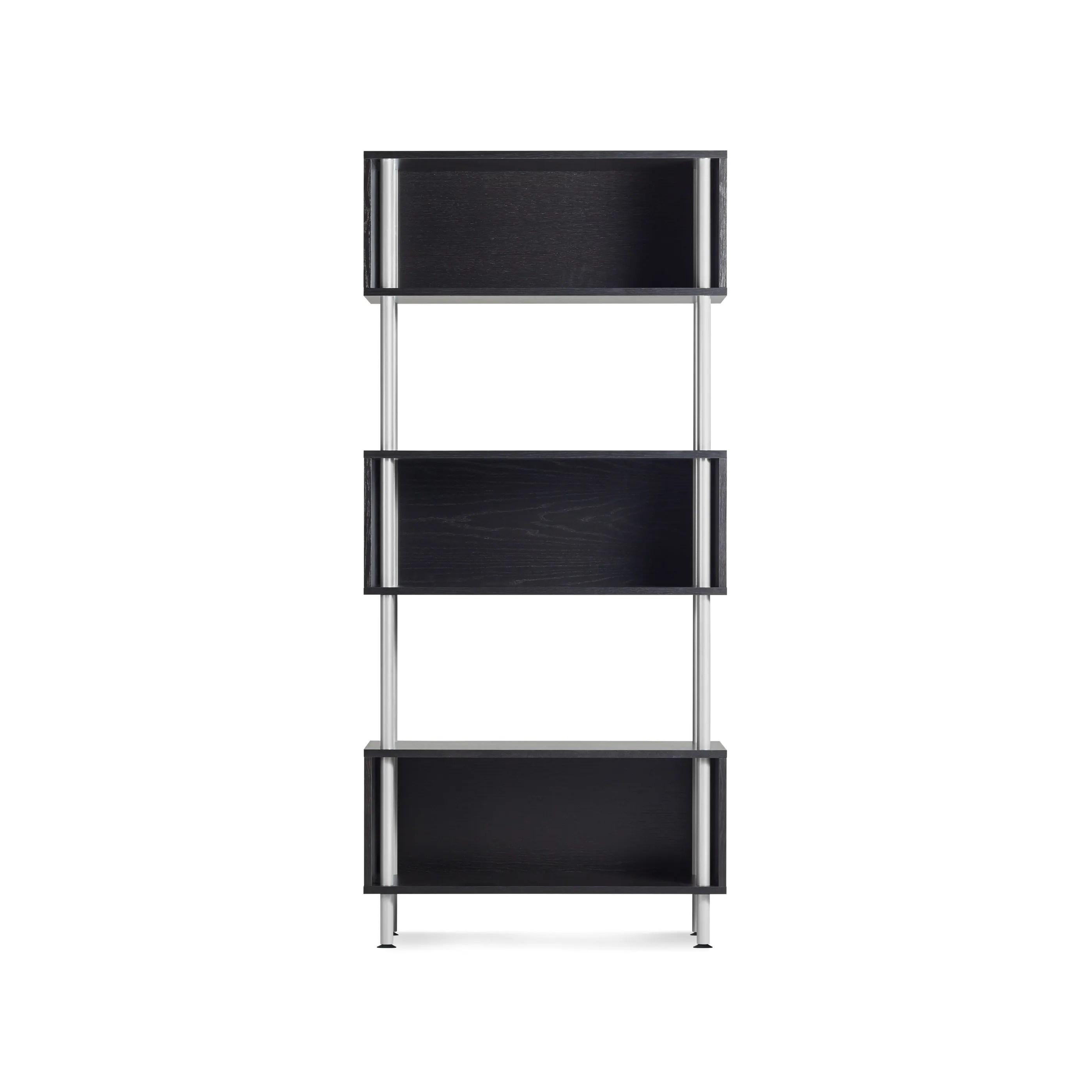 Compelling Ch1 3bxkit Go Ago 3 Box Graphite On Oak 1 2 1 Closed Shelving Units furniture Closed Shelving Unit