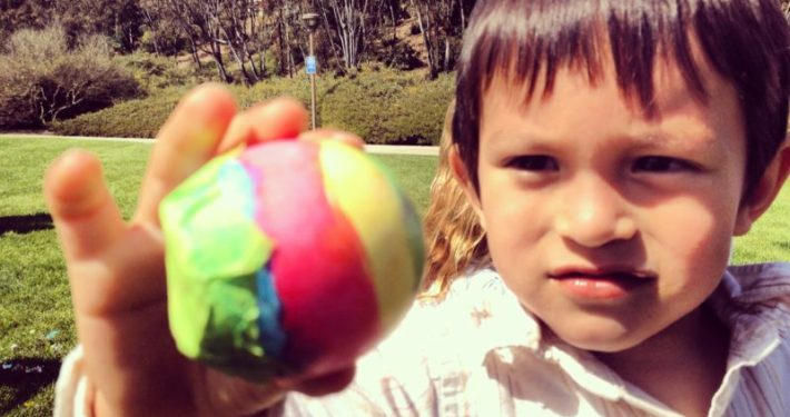 Mexican Confetti eggs are an Easter tradition, in Mexico of course. They are also known as cascarones. It is a fun tradition the kids love.