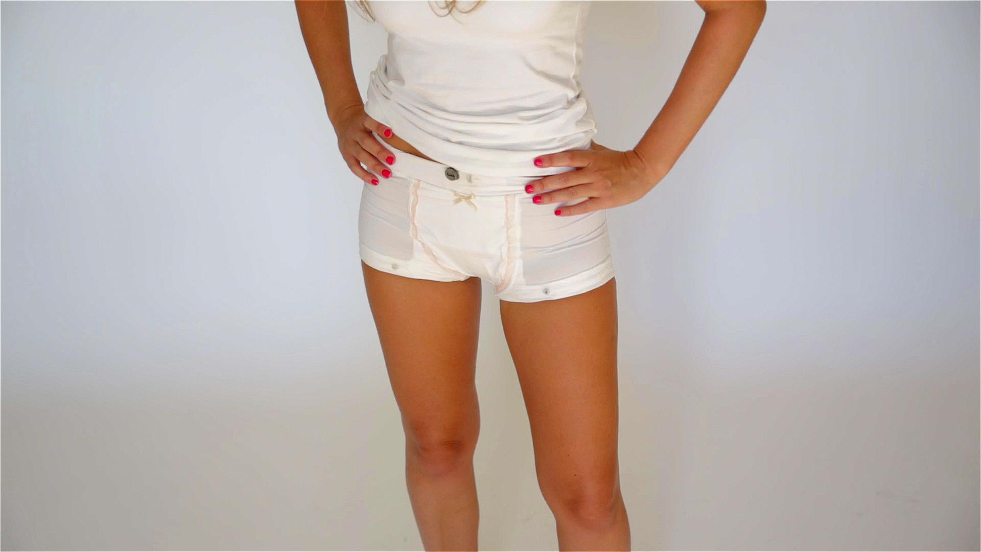wearing chastity belt