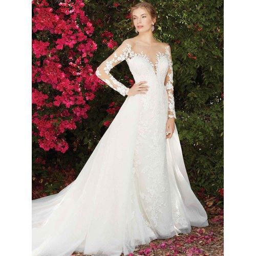 Medium Crop Of Long Sleeve Lace Wedding Dress