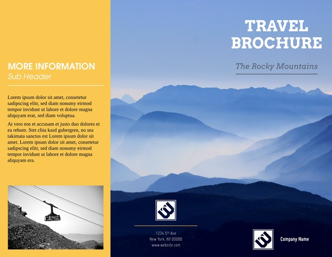 Free Travel Brochure Templates   Examples  8 Free Templates  Alpine Vista Company Brochure Template