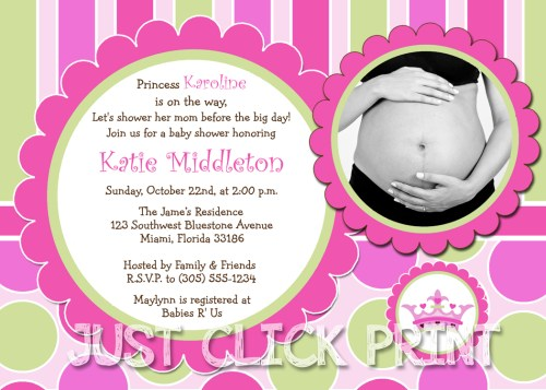 Medium Of Princess Baby Shower Invitations