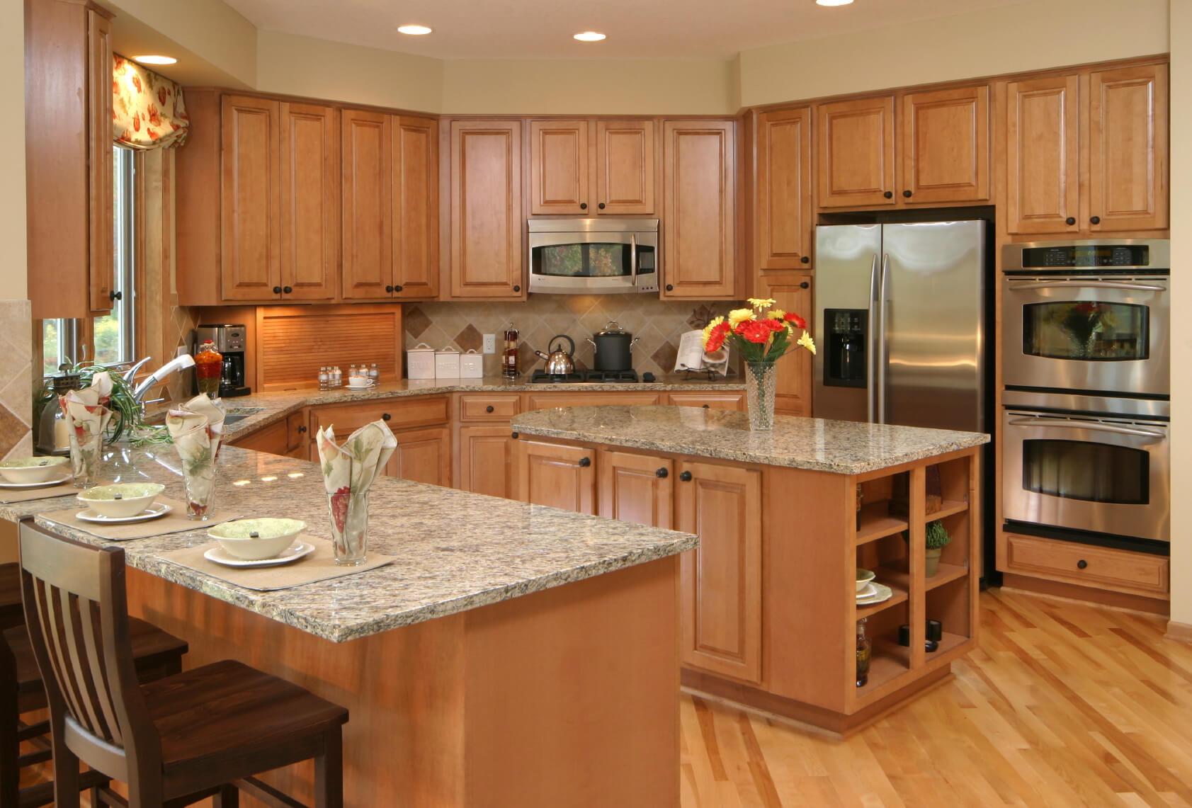 u shaped kitchen designs u shaped kitchen designs Solidly U shaped kitchen here awash in warm natural wood tones from the floors