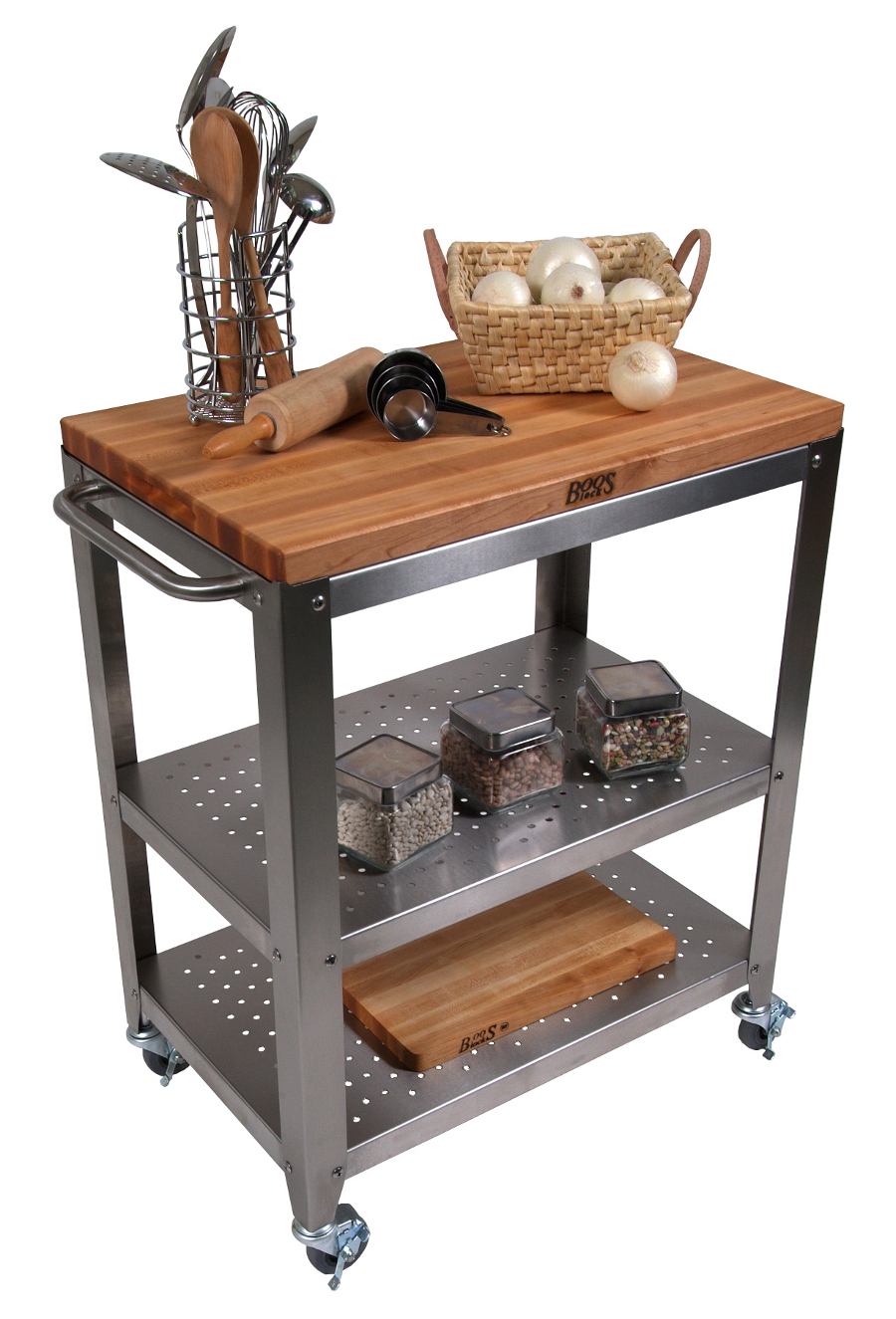 kitchen islands and carts butcher block kitchen table Boos Cucina Culinarte Cart Removable Maple Butcher Block