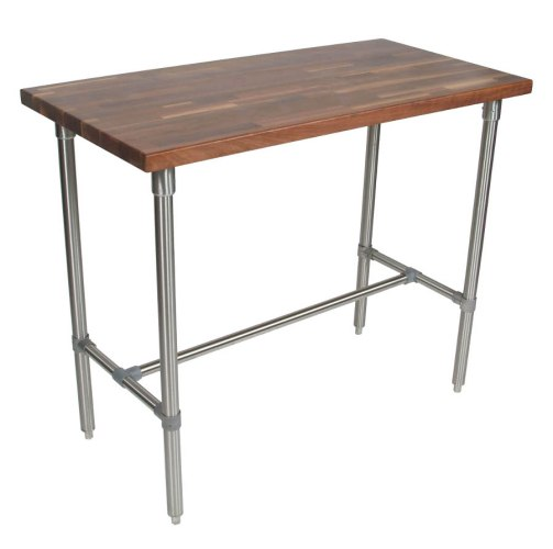 butcher block table butcher block kitchen table Boos Cucina Classico Walnut Stainless Steel Table 48