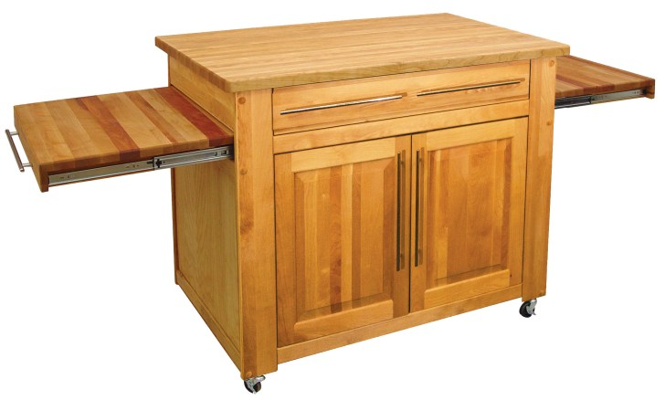 catskills empire work center butcher block island pull out leaves 539243f0f2164