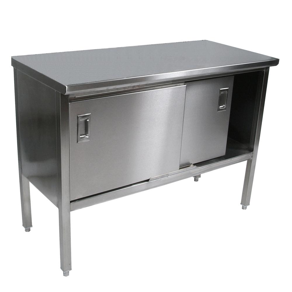 john boos stainless steel enclosed base work table 14 ga top 53c6efc2cf0d7