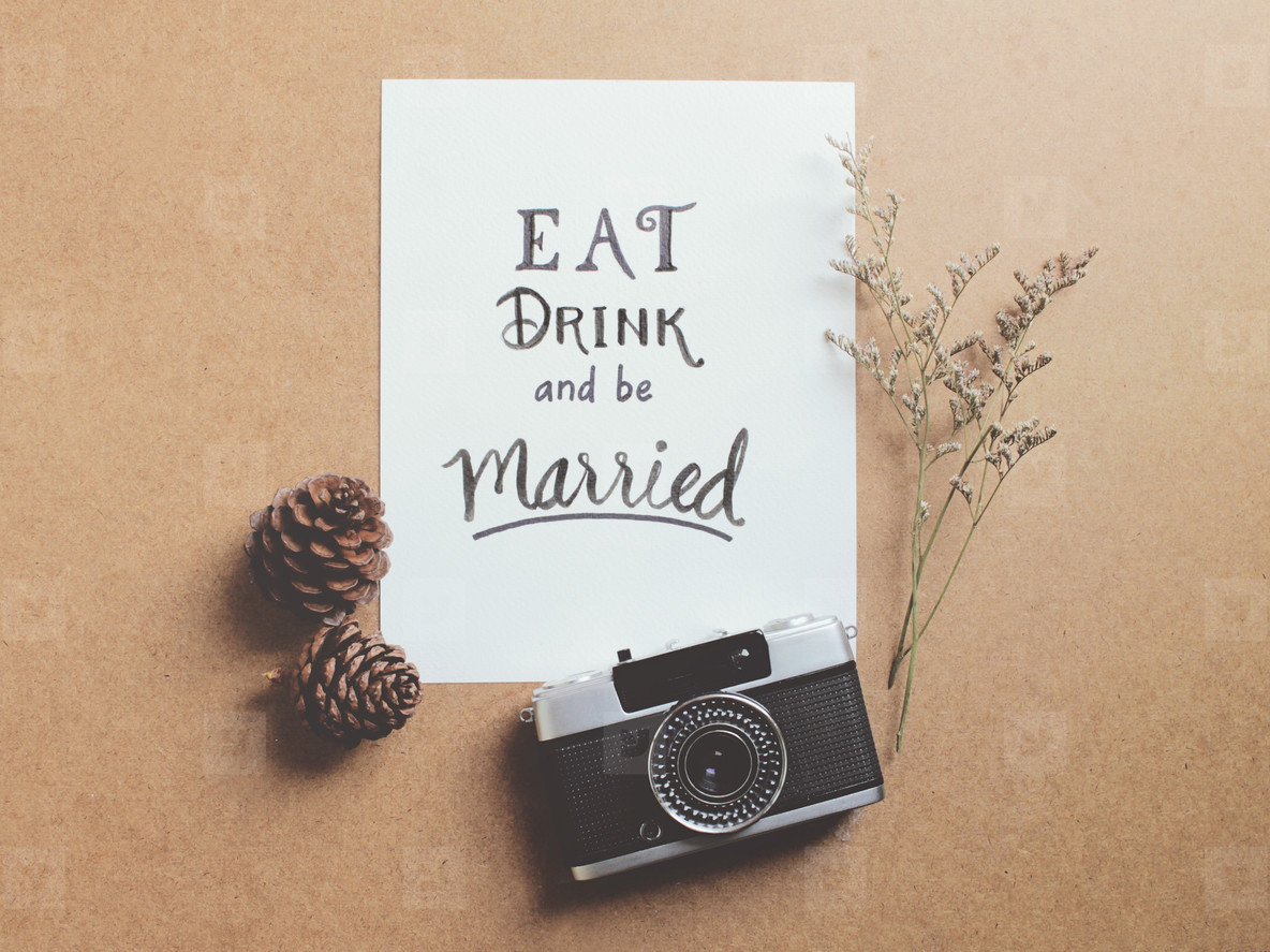 Fullsize Of Eat Drink And Be Married