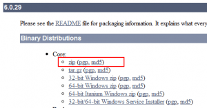 Image showing download package