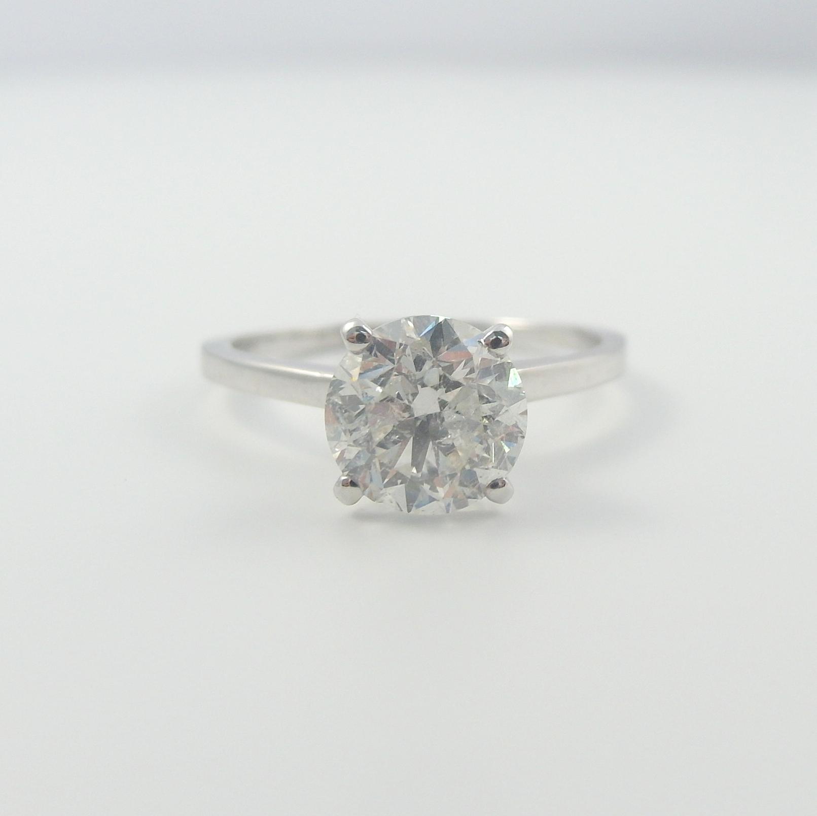 ebay wedding rings sets ROUND SHAPE DIAMOND RING 3 CARATS 18K WHITE