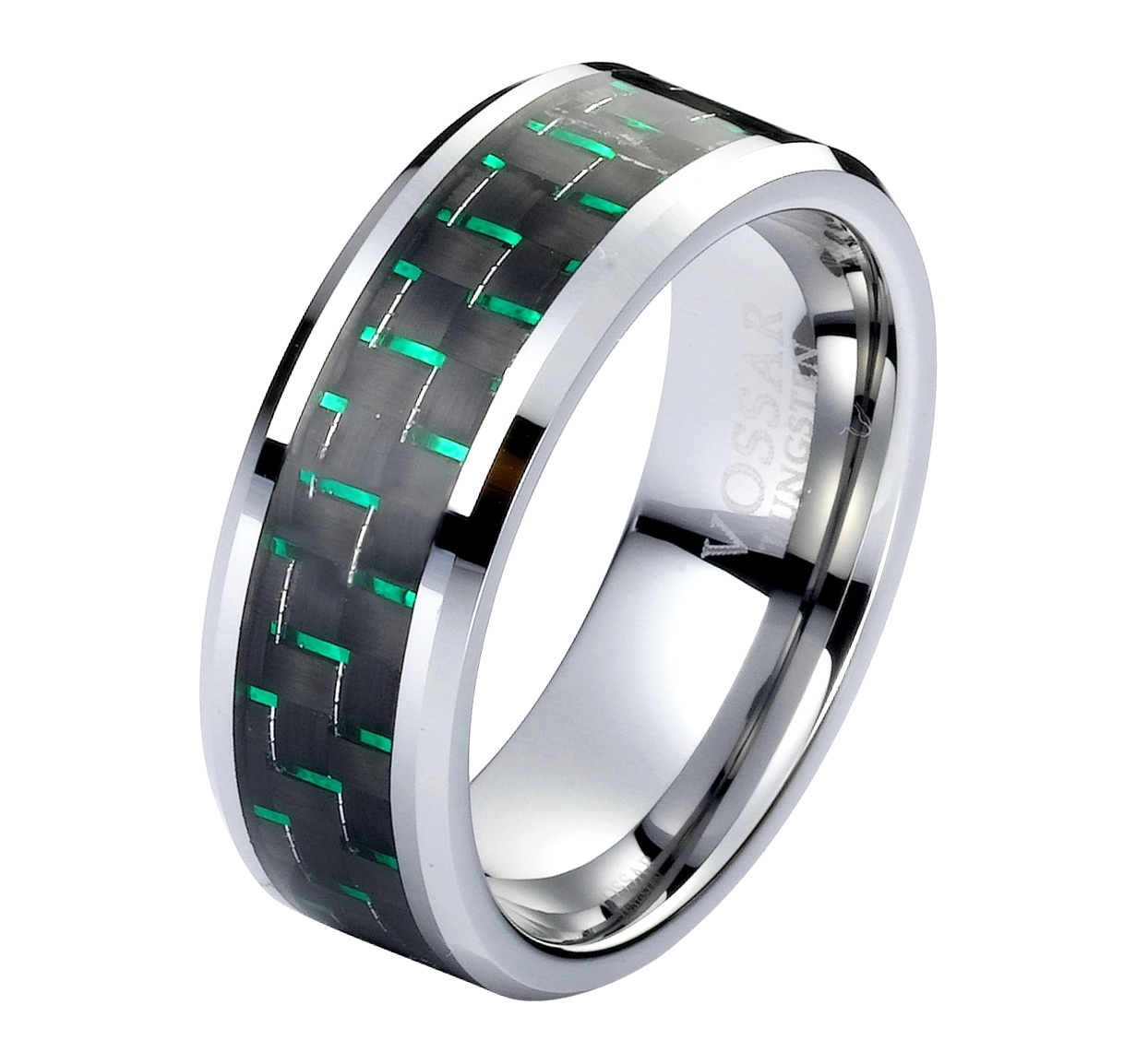 green wedding bands SWbrQzovEJ*phyChKEX*jYTXOi7amA carbon fiber wedding bands Carbon Fiber Inlay 8mm Wedding Bands For Green
