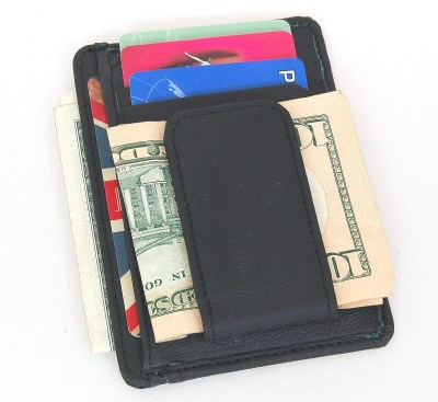 Mens Leather Wallet Money Clip Credit Card ID Holder Front Pocket Thin Slim NEW | eBay