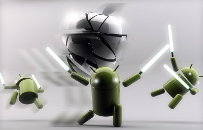 Android versus Apple wallpapers