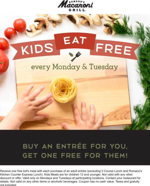 Charm Your Entree At Macaronigrill Macaroni Grill Coupons Kids Eat Free Las Vegas Your Entree At Macaroni Macaroni Grill Locations Macaroni Grill Coupon October 2018 Kids Eat Free Colorado Macaroni Gr
