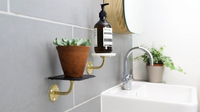 Large Of Wall Bathroom Shelves