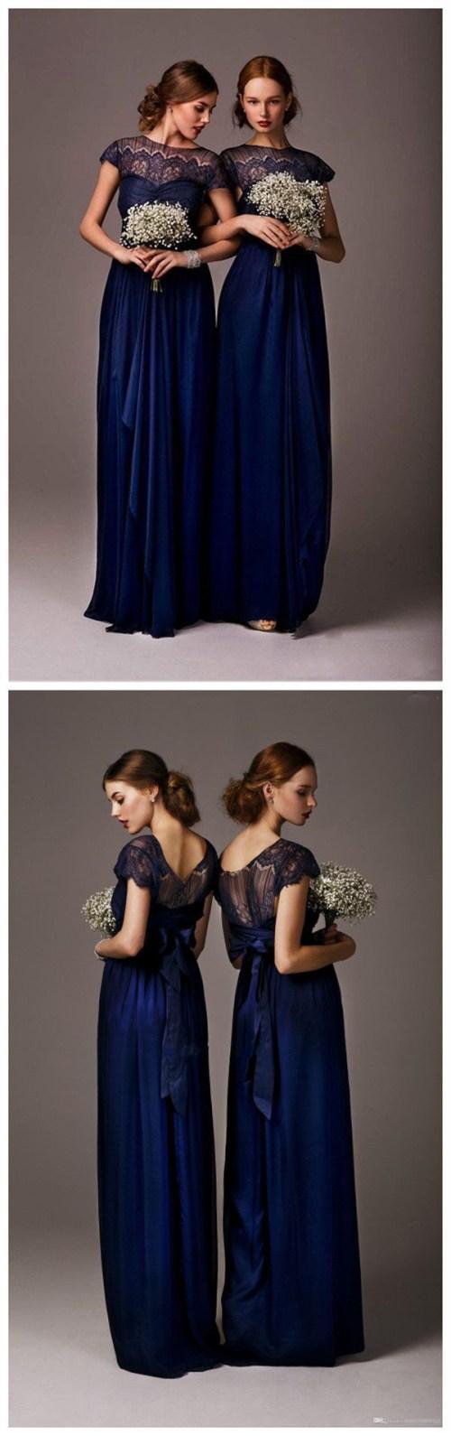 Medium Of Navy Bridesmaid Dresses