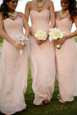Small Of Light Pink Bridesmaid Dresses