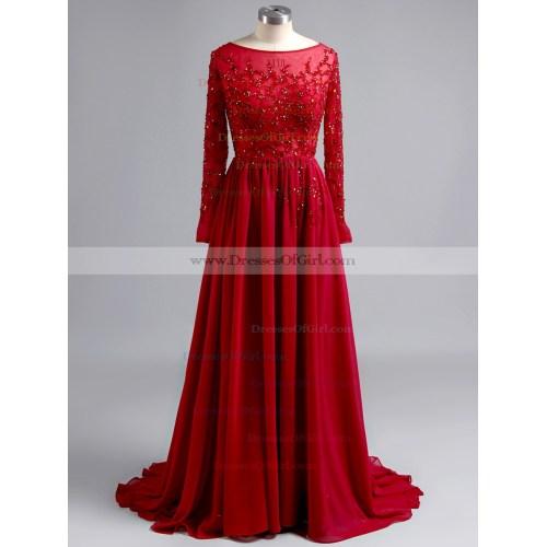 Medium Crop Of Long Sleeve Prom Dress