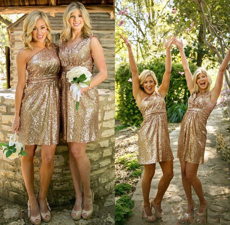 Fullsize Of Gold Sequin Bridesmaid Dresses