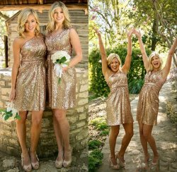 Small Of Gold Sequin Bridesmaid Dresses