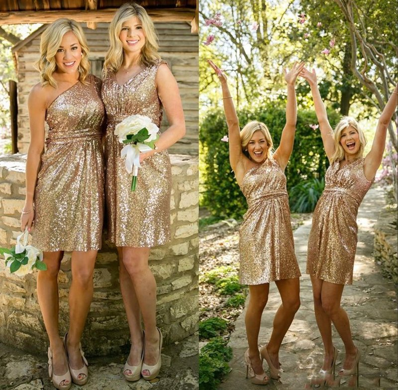 Large Of Gold Sequin Bridesmaid Dresses