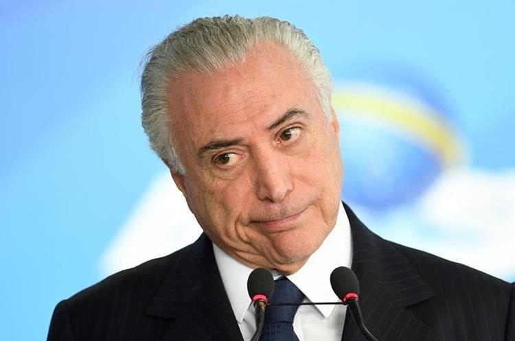 La Fiscalía denunció hoy al presidente brasileño, Michel Temer, por corrupción pasiva. (AFP).