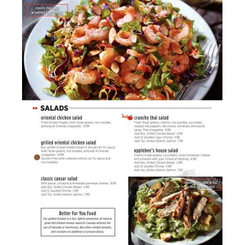 Medium Crop Of Applebees Gluten Free Menu
