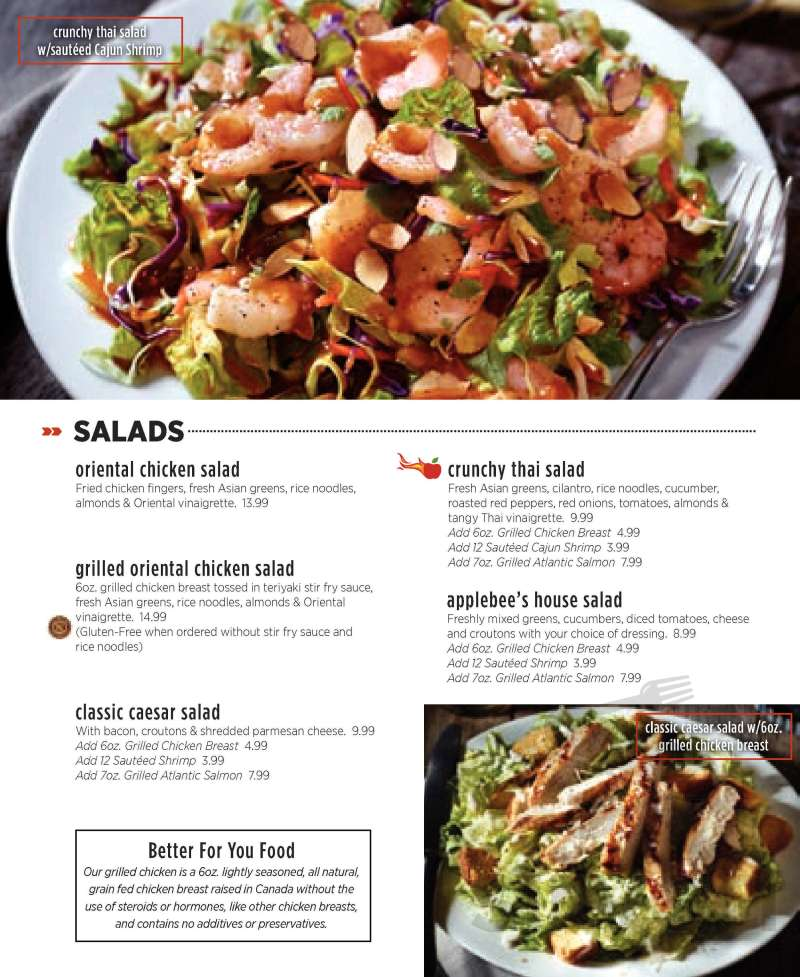 Large Of Applebees Gluten Free Menu