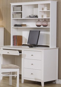 Small Of White Desk With Hutch